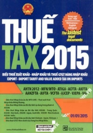 THUẾ TAX 2015 (SONG NGỮ ANH - VIỆT)