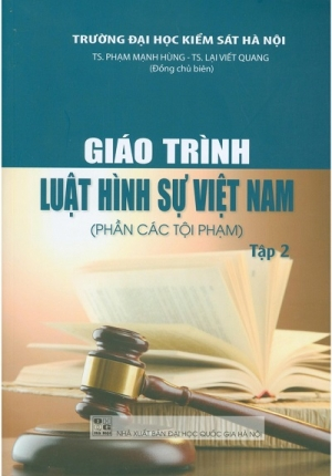 Sách - Giáo Trình Luật Hình Sự Việt Nam (Phần Tội Phạm) - Tập 2 - Đại Học Quốc Gia Hà Nội