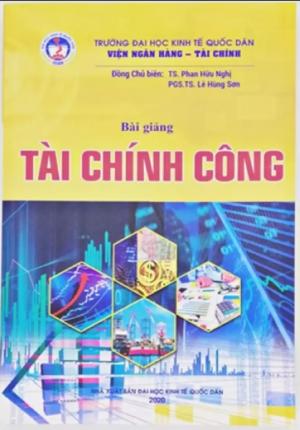 Sách – Bài giảng tài chính công Đại học kinh tế quốc dân